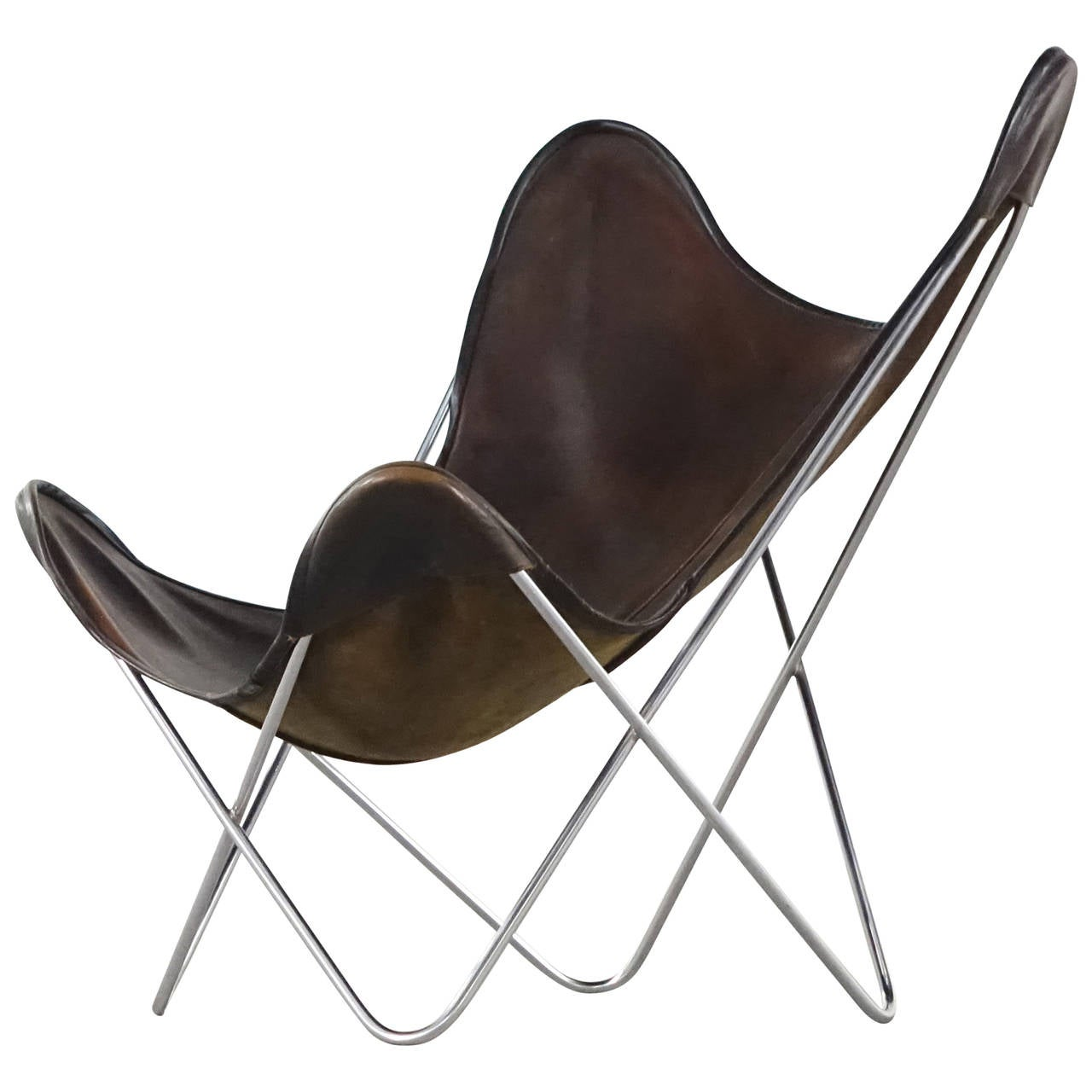 jorge ferrari hardoy butterfly sling chair for knoll international 1960 at 1stdibs. Black Bedroom Furniture Sets. Home Design Ideas