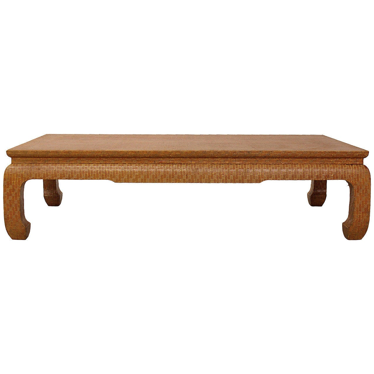 style grasscloth coffee table by baker furniture at 1stdibs