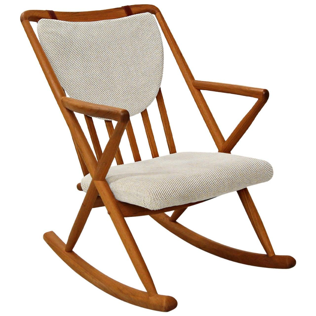 Frank reenskaug rocking chair - Danish Teak Rocking Chair In The Manner Of Frank Reenskaug For Bramin 1