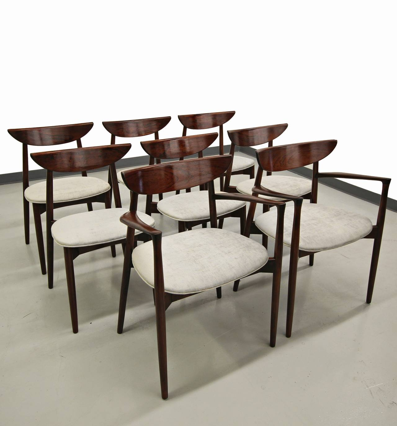 Set of Eight Rosewood Danish Dining Chairs by Harry Ostergaard for A S  Randers 3Set of Eight Rosewood Danish Dining Chairs by Harry Ostergaard for  . Rosewood Danish Dining Table And Chairs. Home Design Ideas
