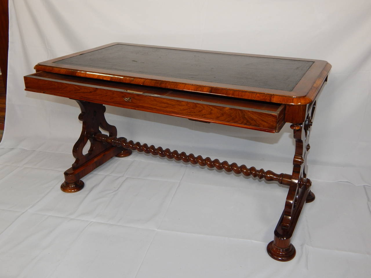 Amazing photo of  Mahogany and Rosewood One Drawer Writing Table For Sale at 1stdibs with #6D2B0D color and 1280x960 pixels