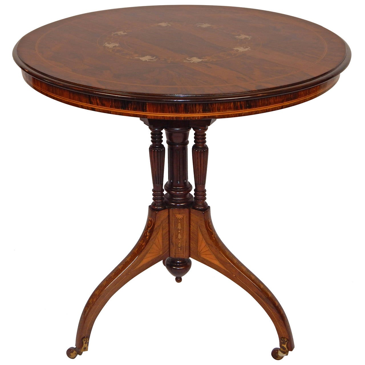 English edwardian inlaid rosewood side table for sale at 1stdibs - Archives departementales 33 tables decennales ...