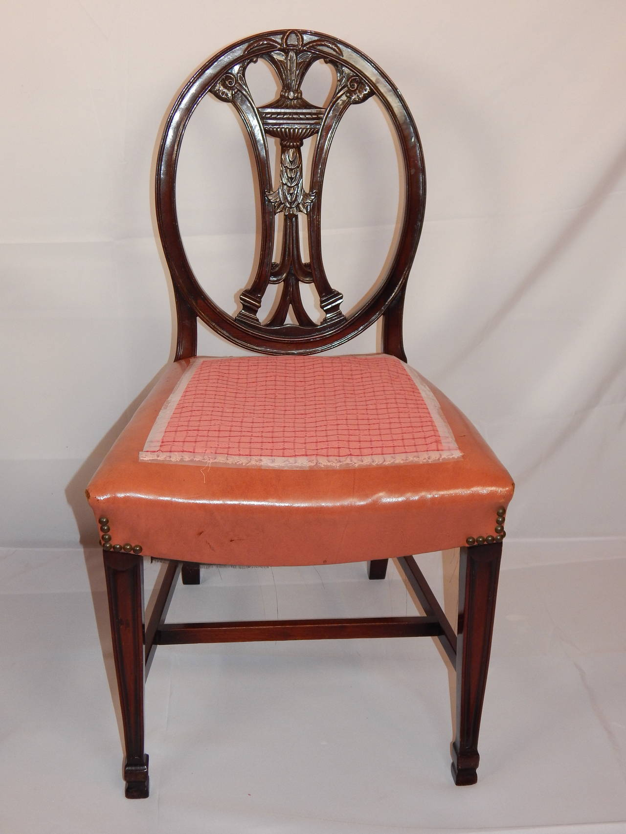 set of eight george iii style carved mahogany dining chairs for sale