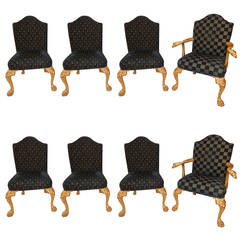 Fine & Rare Set of Eight George I Style Giltwood Dining Chairs