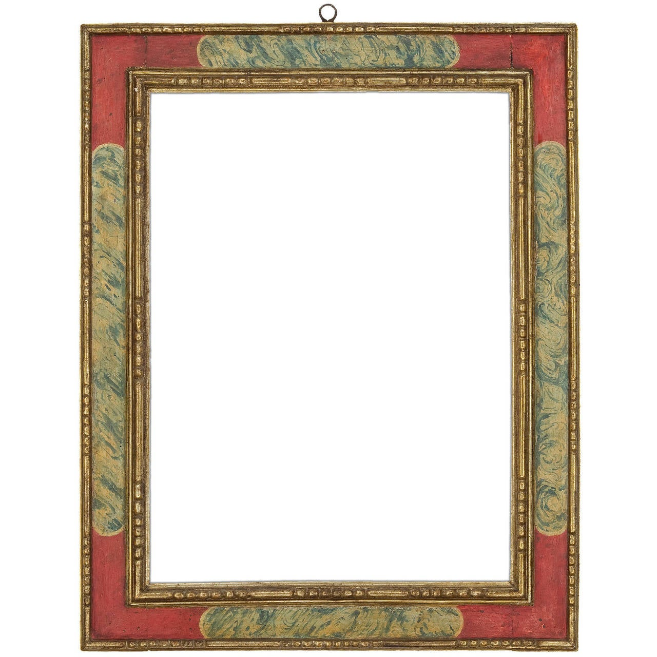 17th Century Spanish Faux Marble Cassetta Frame For Sale