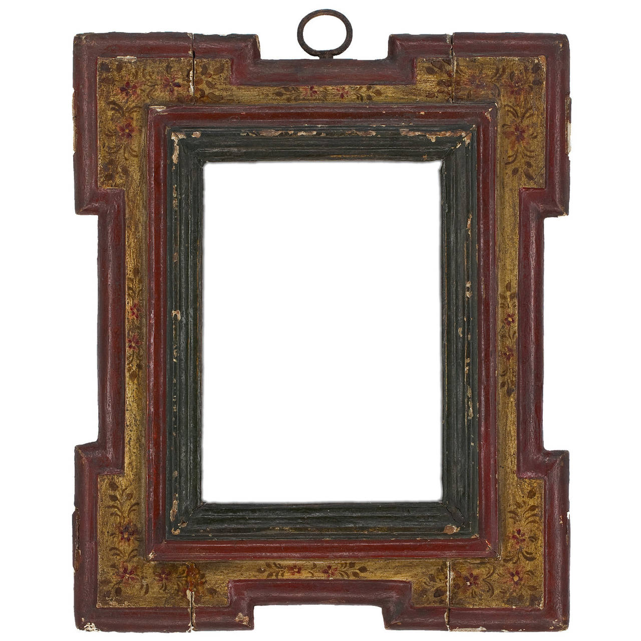17th Century Spanish Polychrome Frame For Sale at 1stdibs