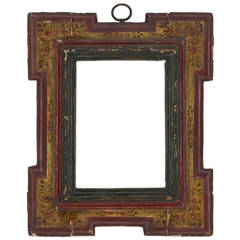 17th Century Spanish Polychrome Frame