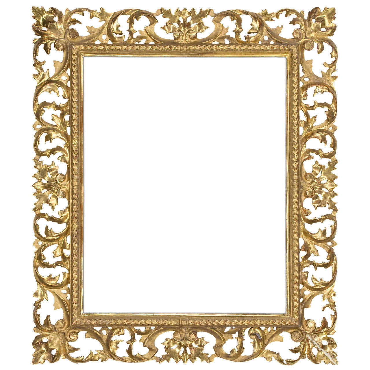 19th century italian carved frame for sale at 1stdibs 19th century italian carved frame for sale jeuxipadfo Image collections