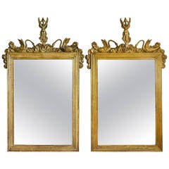 Pair of 18th Century French Giltwood Mirrors