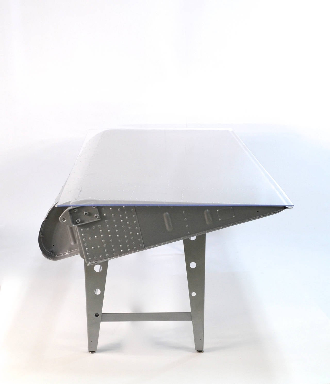 Airplane Wing Coffee Table Authentic Airplane Wing Desk From Original Wwii Wing 68 For Sale