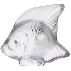 Fish Sculpture in Crystal Glass by Lalique