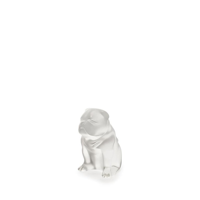For Sale: Clear Bulldog Sculpture in Crystal Glass by Lalique 2