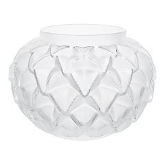 Small Languedoc Vase in Crystal Glass by Lalique