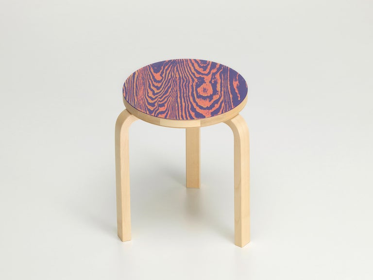 For Sale: Pink (pink/purple ColoRing) Artek Stool 60 ColoRing by Alvar Aalto and Jo Nagasaka 2