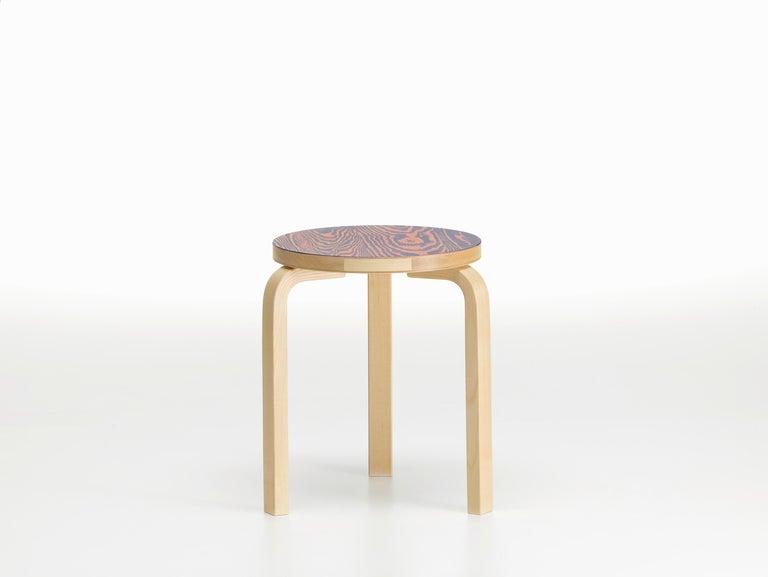 For Sale: Pink (pink/purple ColoRing) Artek Stool 60 ColoRing by Alvar Aalto and Jo Nagasaka 3