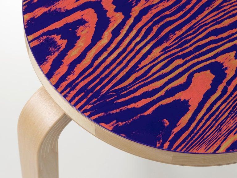 For Sale: Pink (pink/purple ColoRing) Artek Stool 60 ColoRing by Alvar Aalto and Jo Nagasaka 4