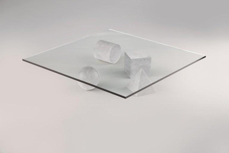 For Sale: White (Carrara White) Martinelli Luce Metafora 1979 Table by Lella and Massimo Vignelli 2