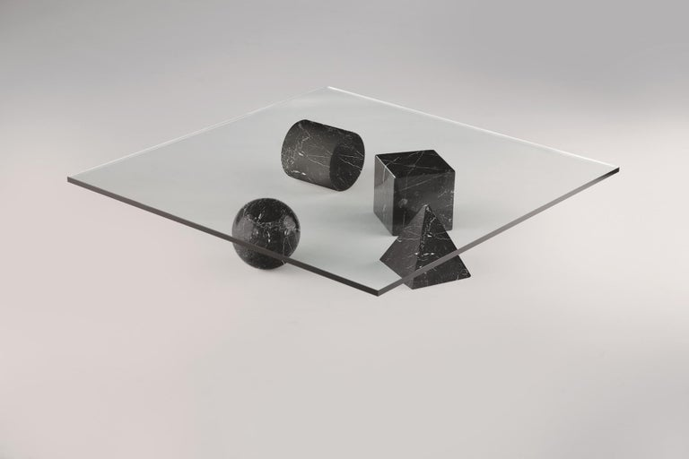 For Sale: Black (Black Marquina) Martinelli Luce Metafora 1979 Table by Lella and Massimo Vignelli 2