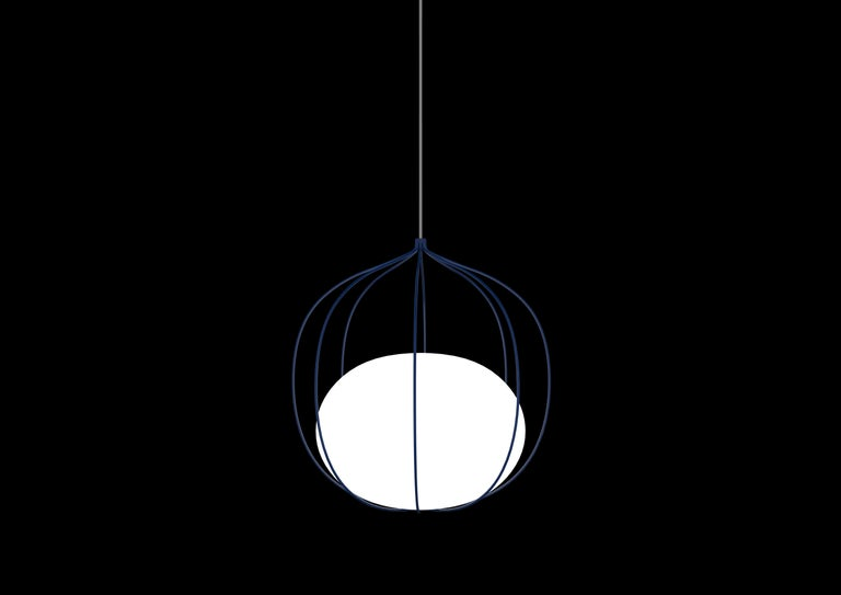 For Sale: Blue Zero LED Hoop Pendant by Front Design 2