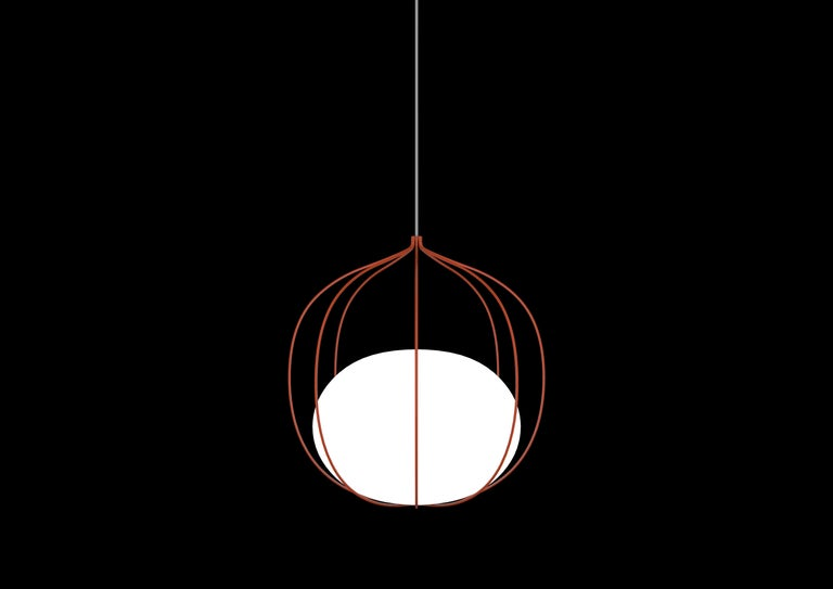 For Sale: Orange Zero LED Hoop Pendant by Front Design 2