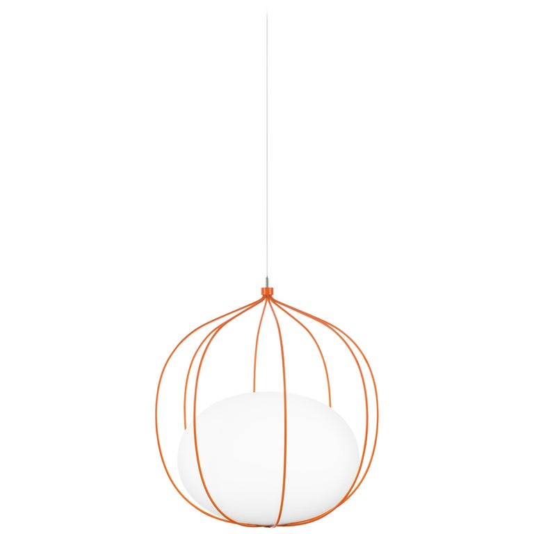 For Sale: Orange Zero LED Hoop Pendant by Front Design
