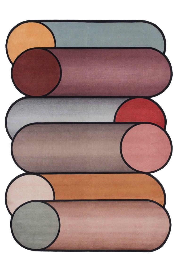 For Sale: Purple (Standard Rotazioni) CC-Tapis Rotazioni A Rug by Patricia Urquiola