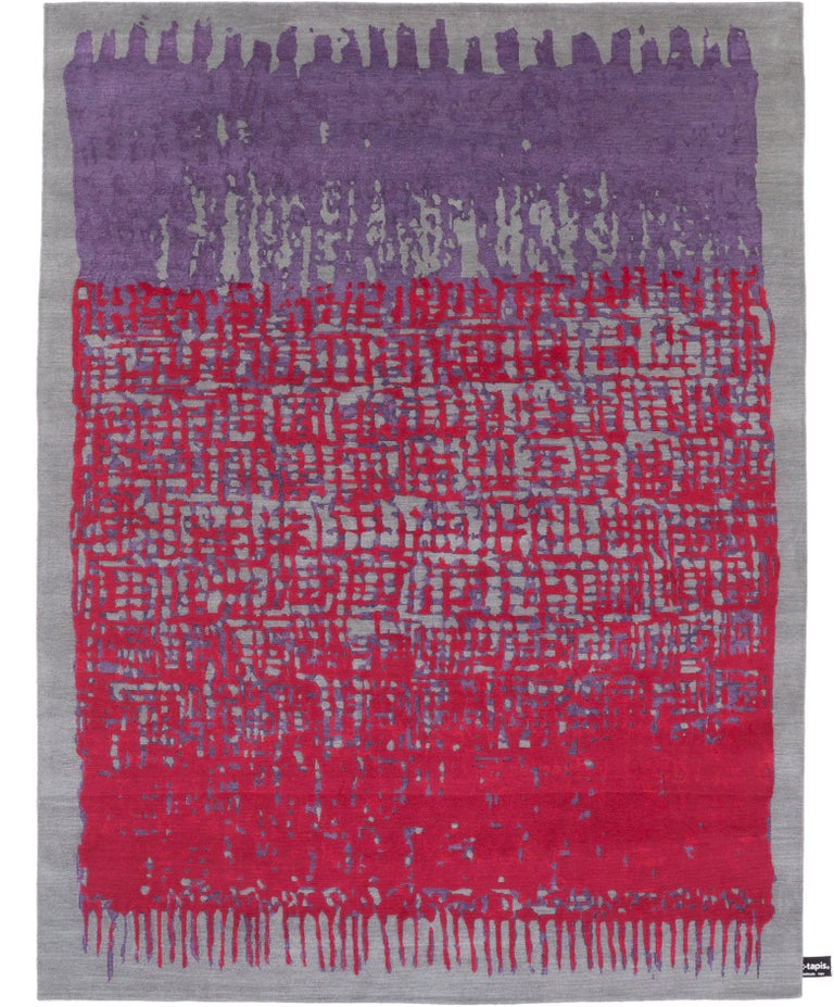 For Sale: Red (Red-Violet) CC-Tapis Sasha Rug by Nelly Maye