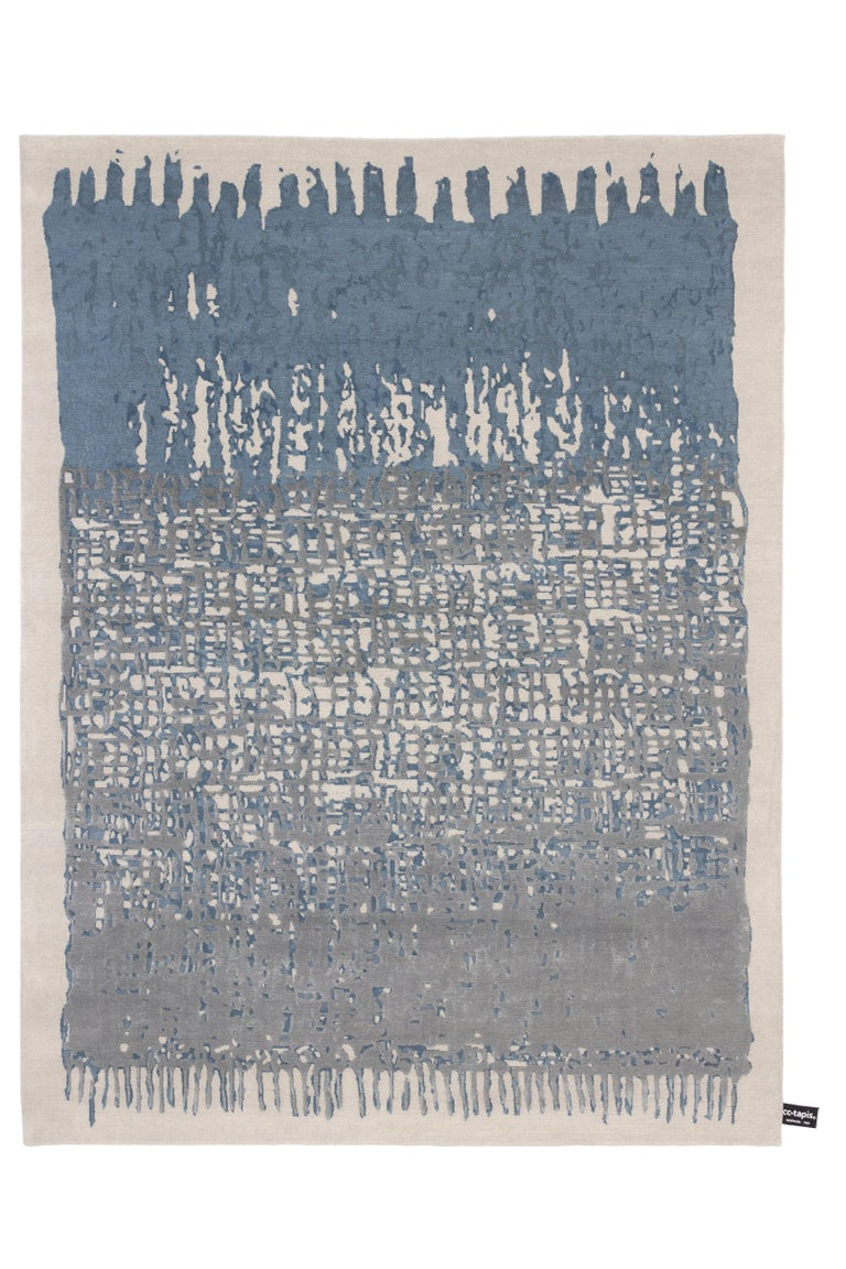 For Sale: Gray (Ice) CC-Tapis Sasha Rug by Nelly Maye