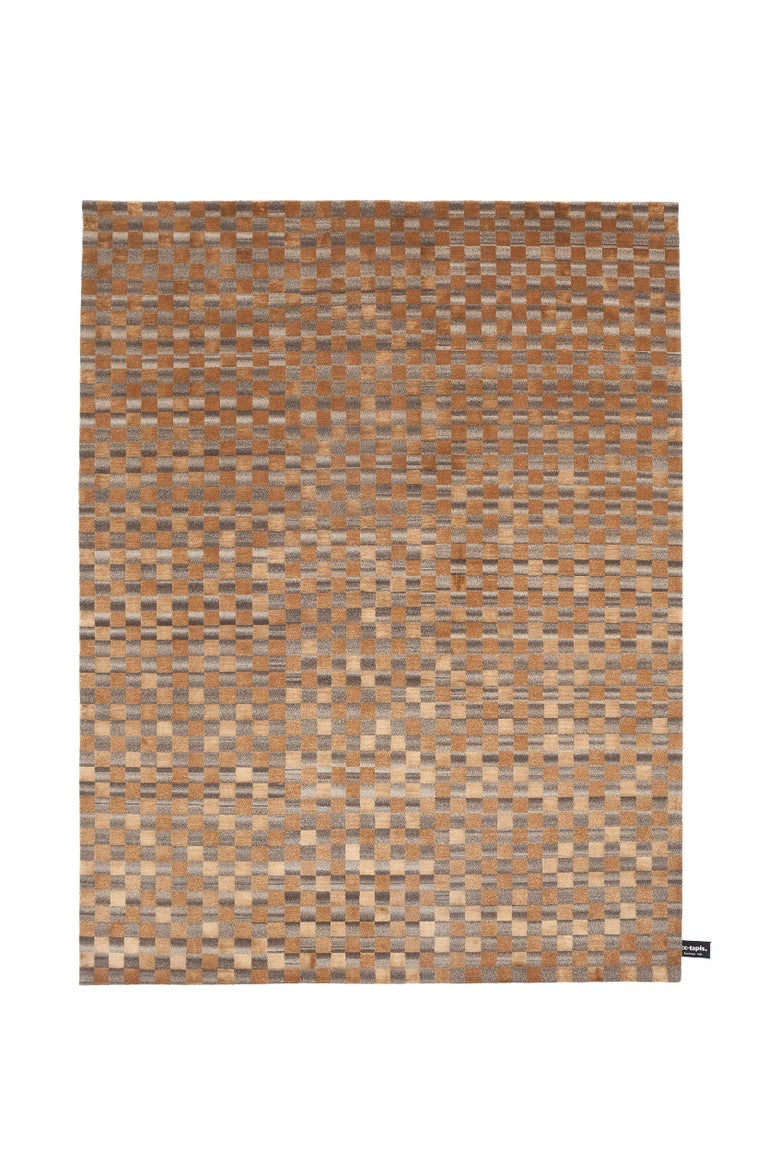 For Sale: Brown (Dark Copper) Damier 2.0 Rug by CC-Tapis