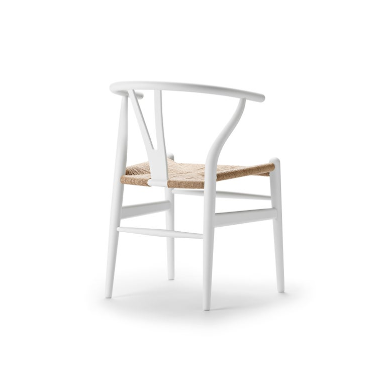 For Sale: White (Soft White) CH24 Wishbone Chair in Soft Colors by Hans J. Wegner 3