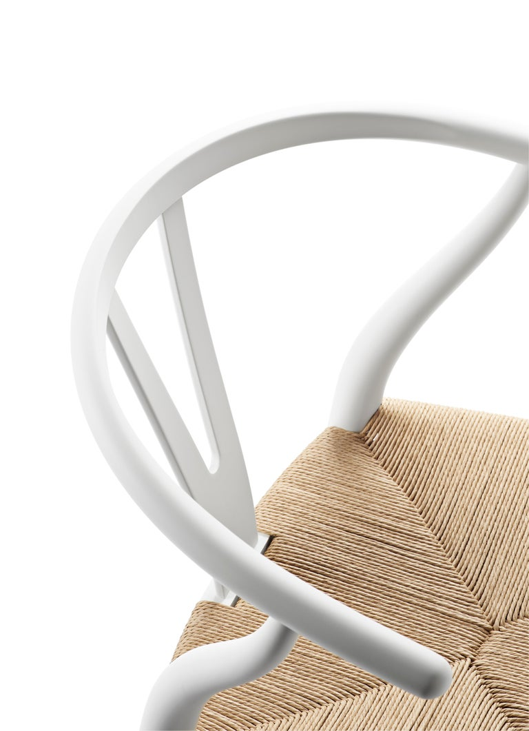 For Sale: White (Soft White) CH24 Wishbone Chair in Soft Colors by Hans J. Wegner 4