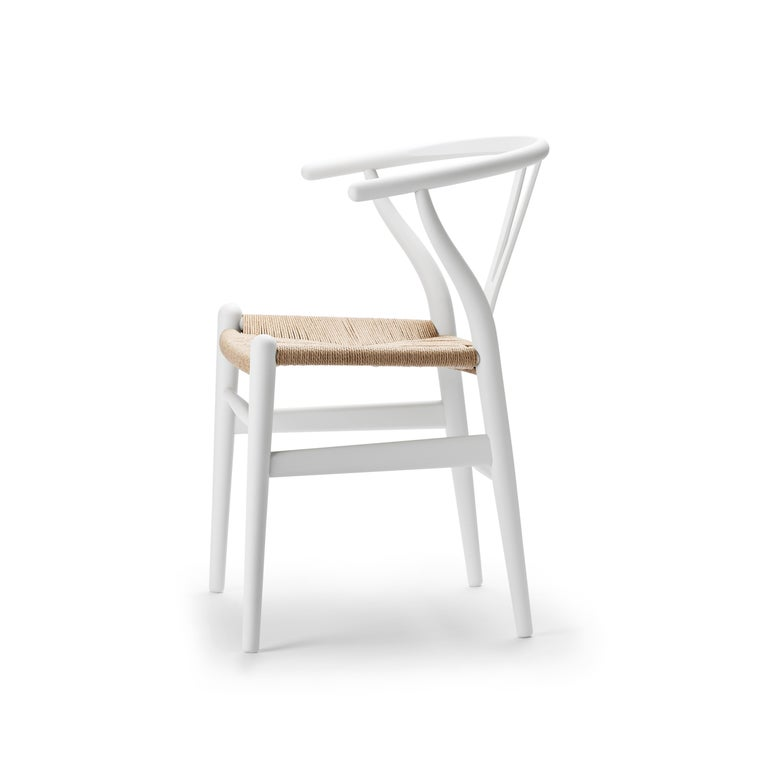 For Sale: White (Soft White) CH24 Wishbone Chair in Soft Colors by Hans J. Wegner 2