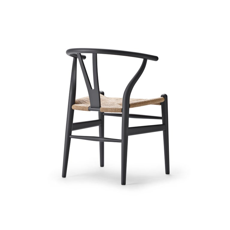For Sale: Gray (Soft Gray) CH24 Wishbone Chair in Soft Colors by Hans J. Wegner 3