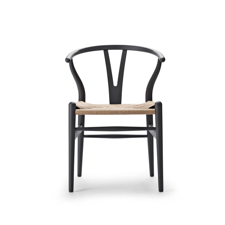 For Sale: Gray (Soft Gray) CH24 Wishbone Chair in Soft Colors by Hans J. Wegner