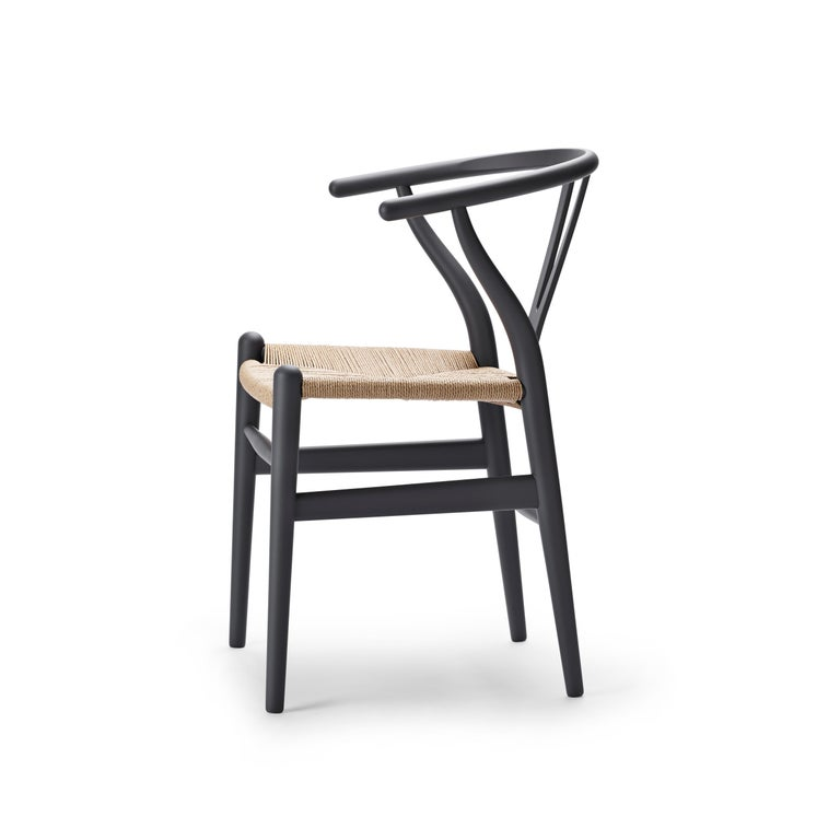 For Sale: Gray (Soft Gray) CH24 Wishbone Chair in Soft Colors by Hans J. Wegner 2