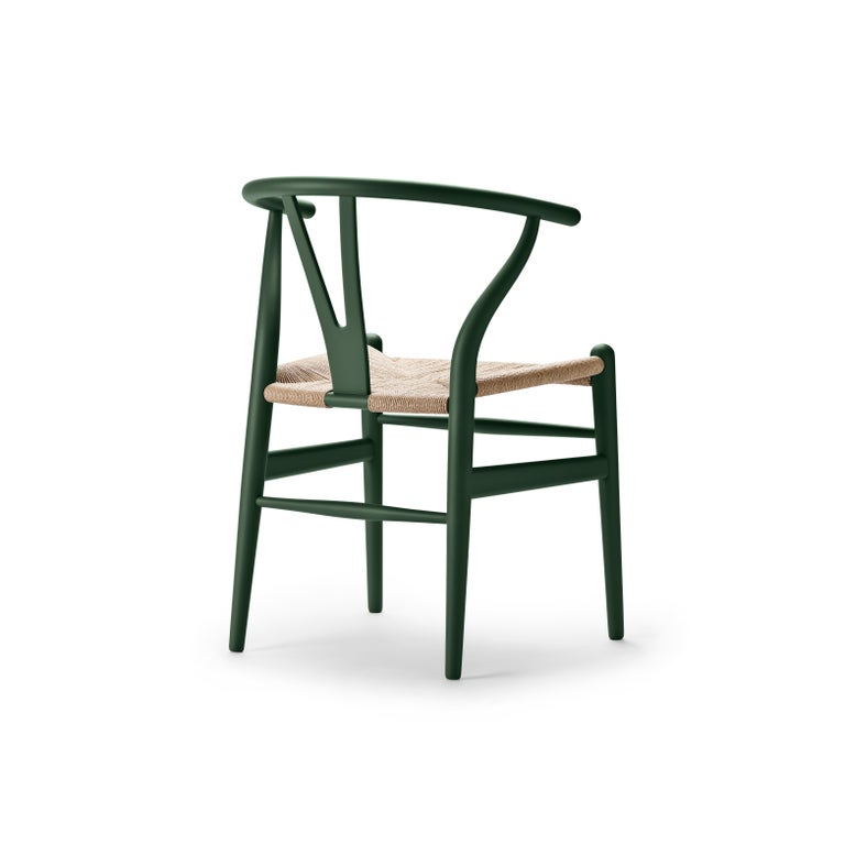 For Sale: Green (Soft Green) CH24 Wishbone Chair in Soft Colors by Hans J. Wegner 3