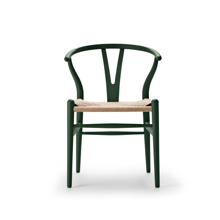 For Sale: Green (Soft Green) CH24 Wishbone Chair in Soft Colors by Hans J. Wegner