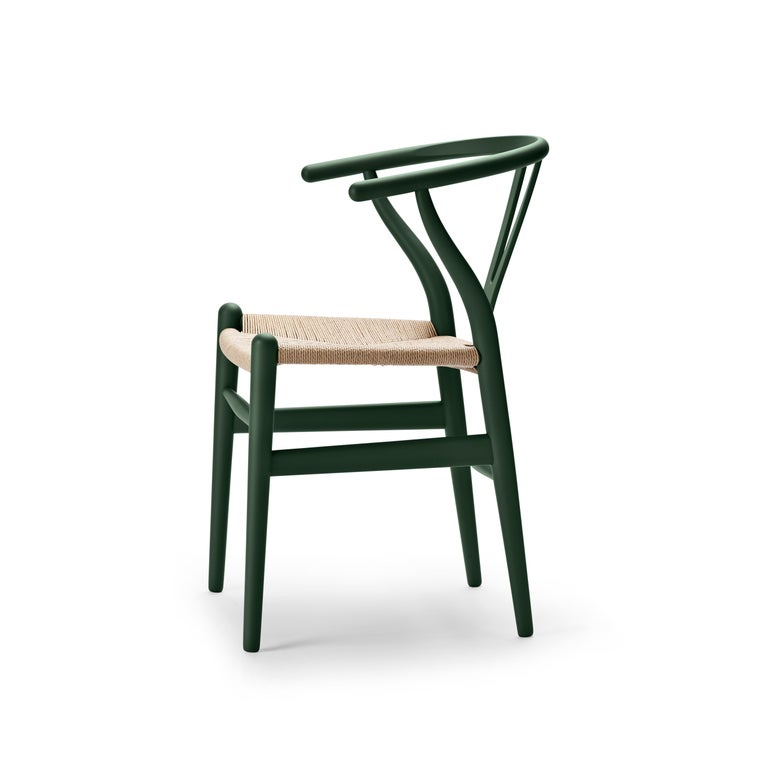 For Sale: Green (Soft Green) CH24 Wishbone Chair in Soft Colors by Hans J. Wegner 2