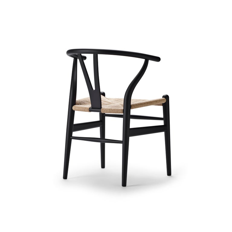 For Sale: Black (Soft Black) CH24 Wishbone Chair in Soft Colors by Hans J. Wegner 3