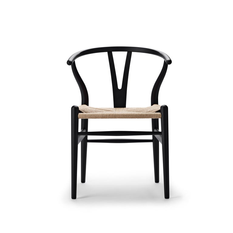 For Sale: Black (Soft Black) CH24 Wishbone Chair in Soft Colors by Hans J. Wegner