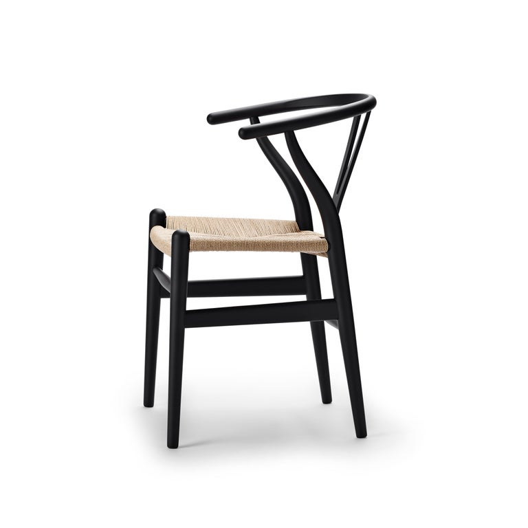 For Sale: Black (Soft Black) CH24 Wishbone Chair in Soft Colors by Hans J. Wegner 2