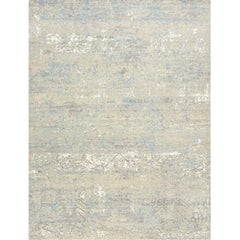 Schumacher Alloy Area Rug in Hand-Knotted Wool & Silk by Patterson Flynn Martin