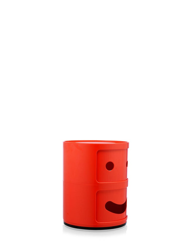 Modern Kartell Componibili 2-Tier Drawer in Smile Red by Anna Castelli Ferrieri For Sale