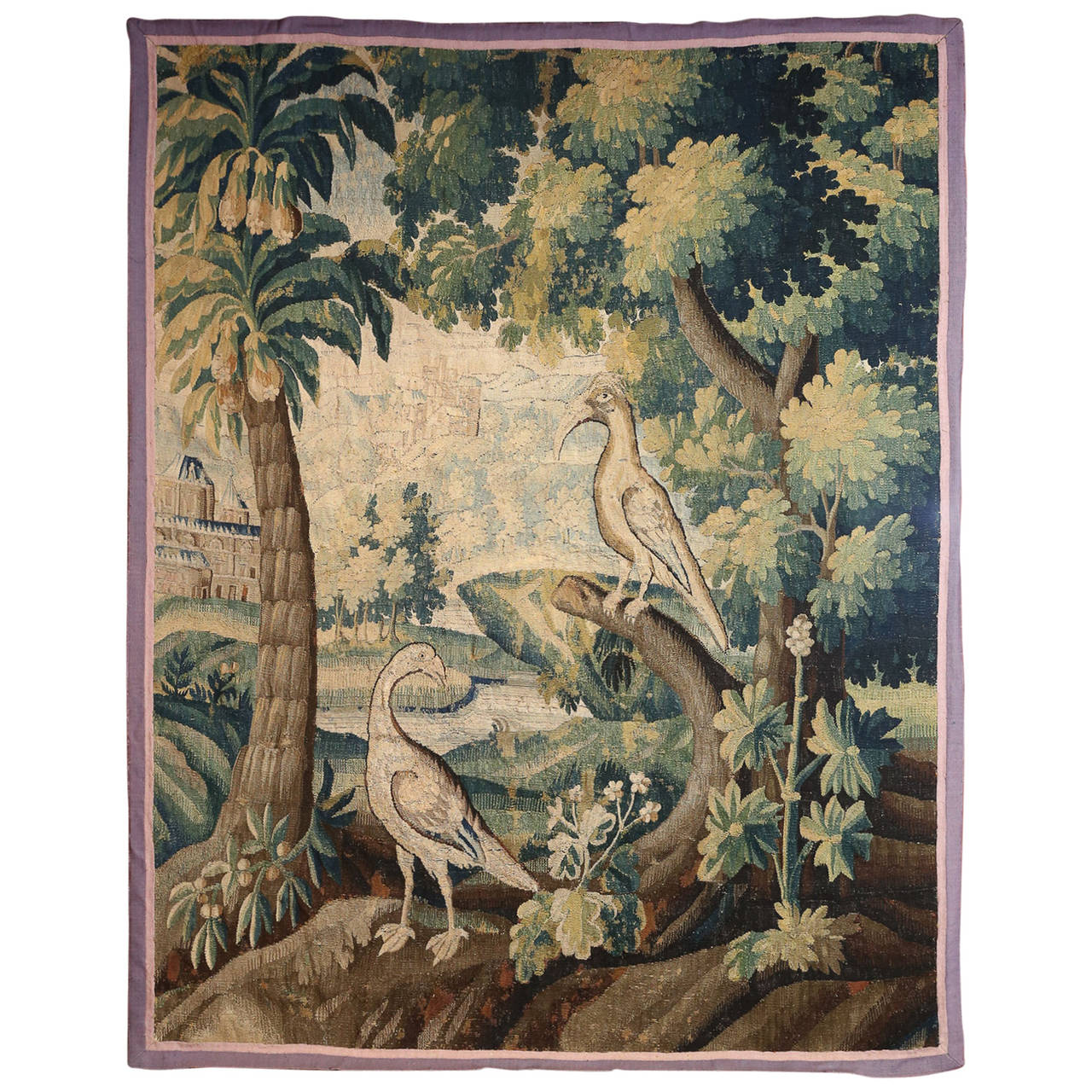 French Antique Aubusson Tapestry At 1stdibs