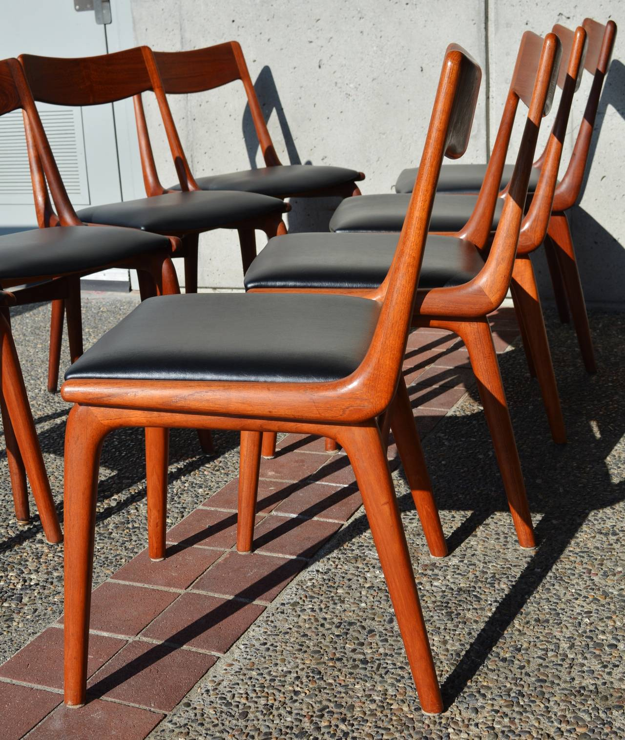Merveilleux This Is An Amazingly Rare Set Of The Ever Popular Danish Modern Teak