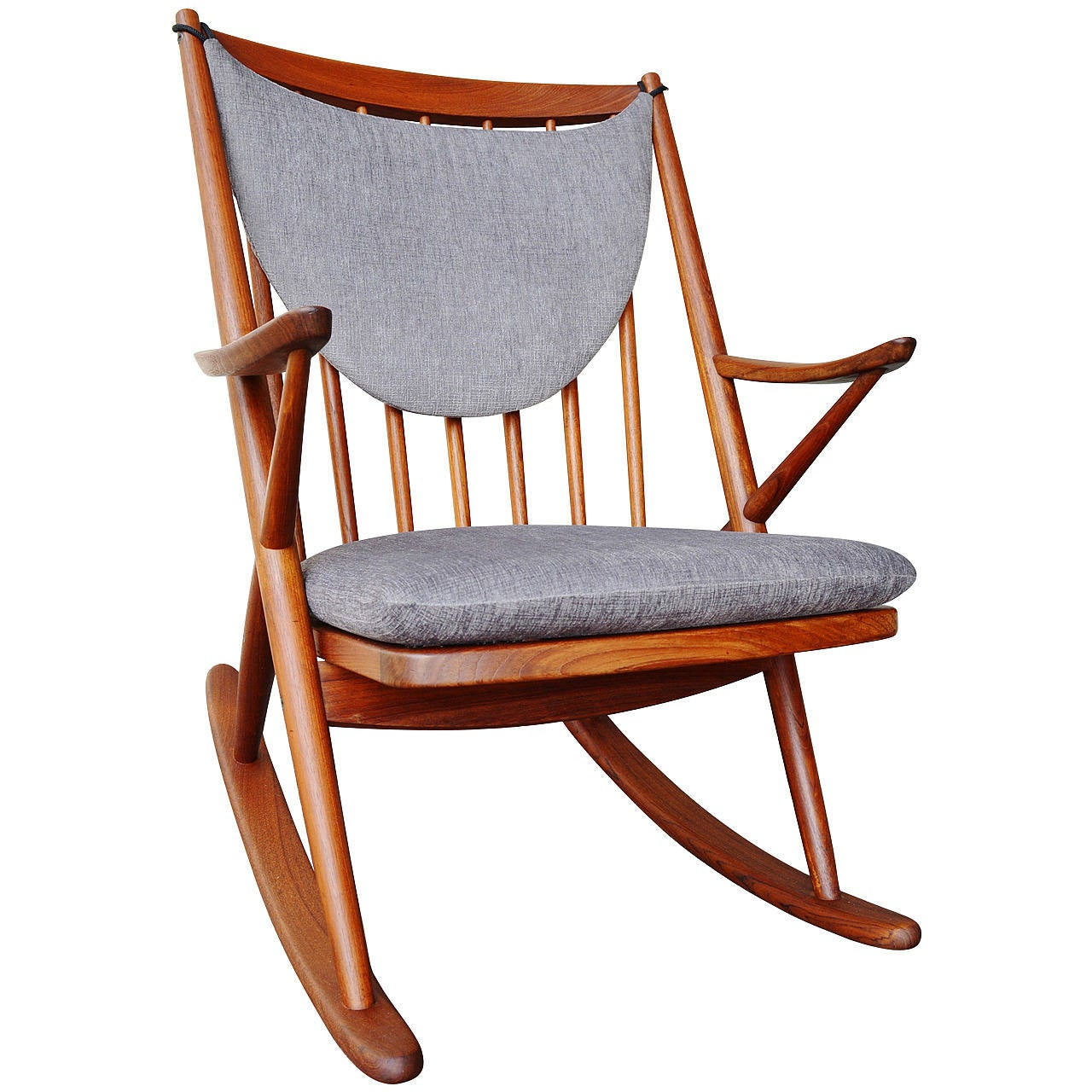 danish modern teak rocking chair by frank reenskaug for. Black Bedroom Furniture Sets. Home Design Ideas