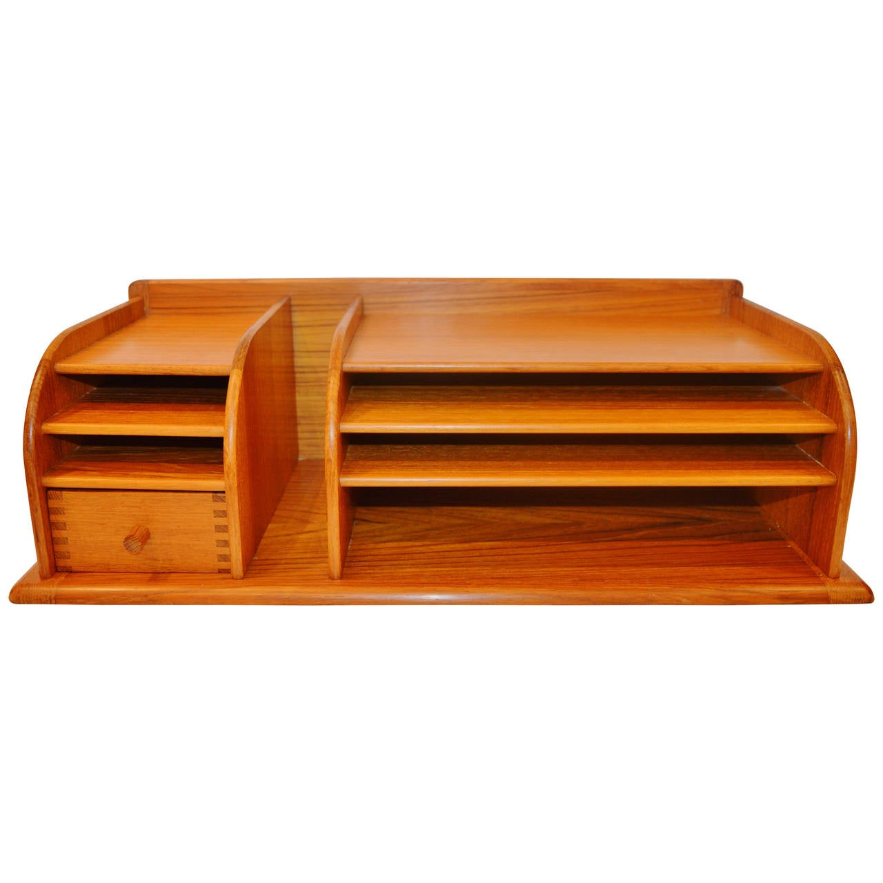 Danish modern solid teak desk organizer by kai kristiansen - Designer desk accessories and organizers ...