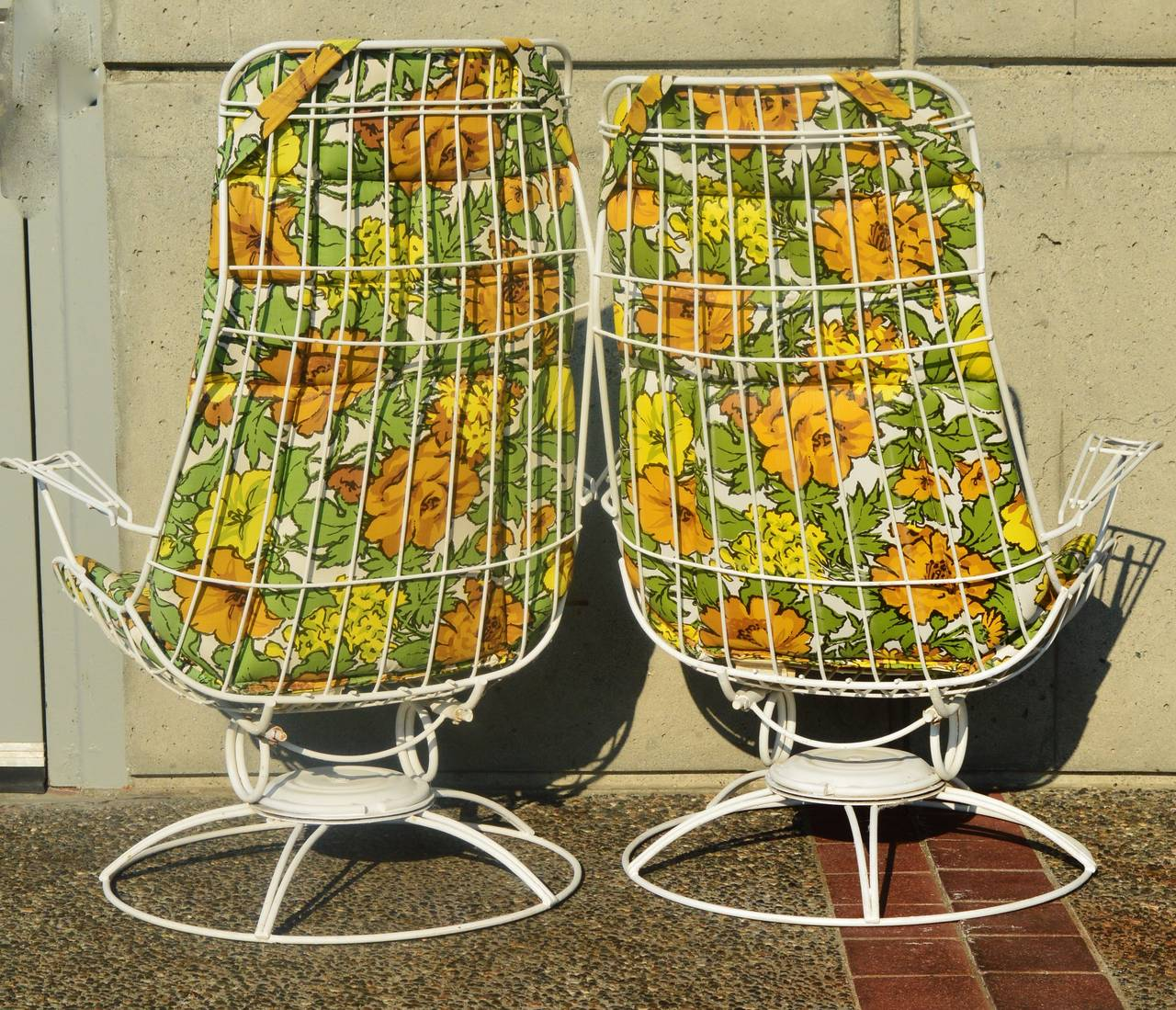 High Quality Rare Pair Homecrest Rocking Lounge Chairs U0026 Ottoman W/ Original Cushions 3