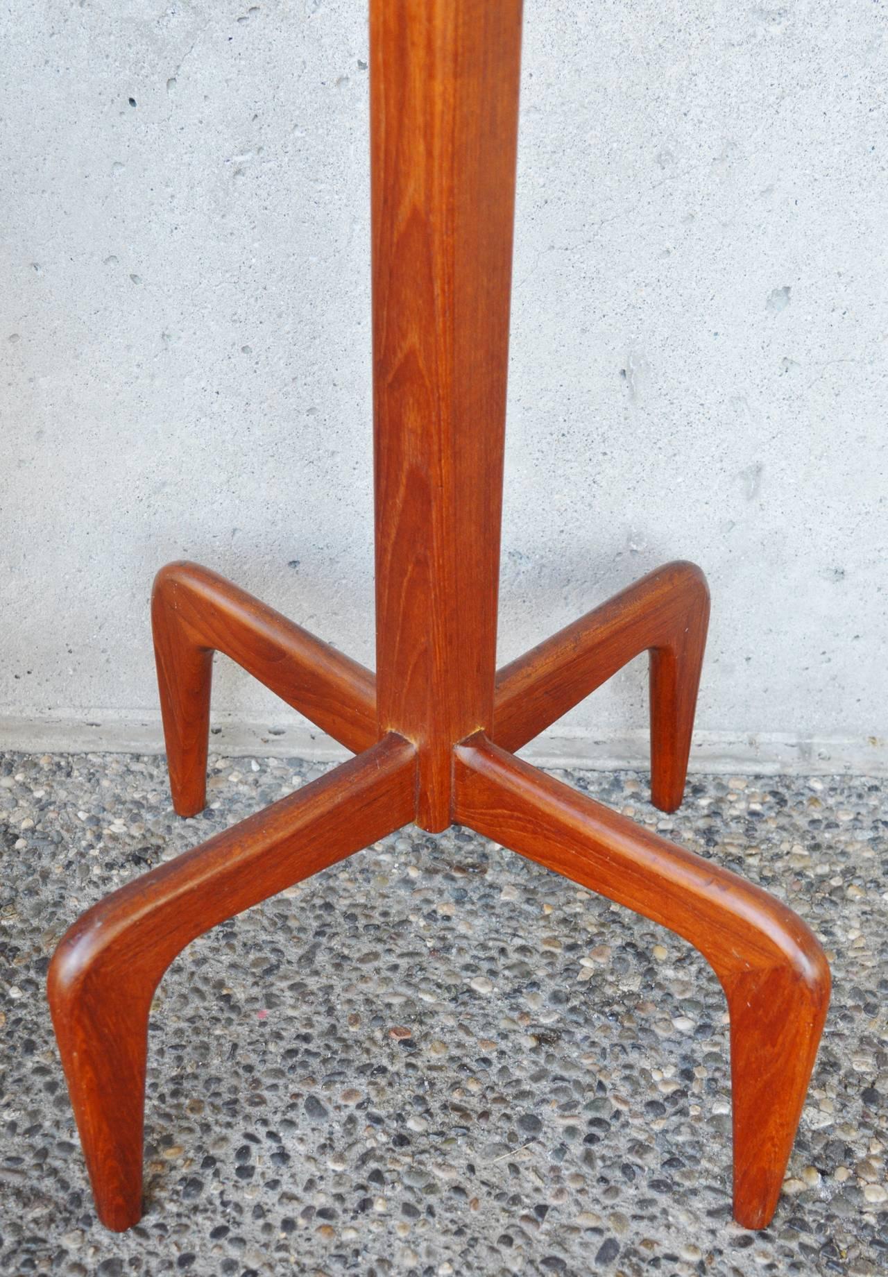 Danish Modern Solid Teak Coat Stand / Hat Tree 3