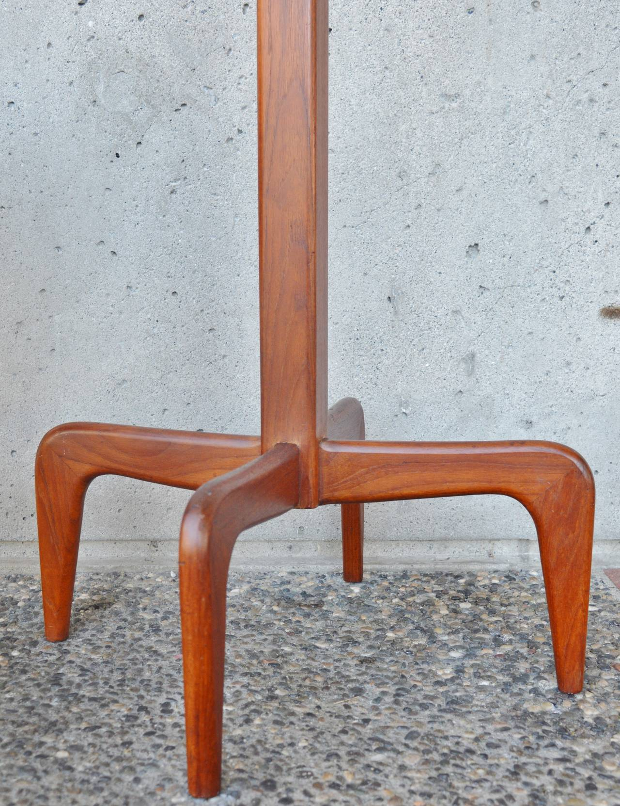 Danish Modern Solid Teak Coat Stand / Hat Tree 6